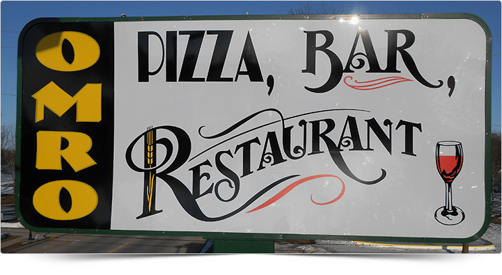 Illuminated Sign - Omro Pizza, Bar & Restaurant