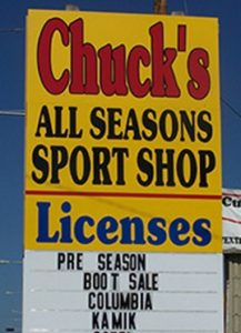 Chuck's All Seasons Sport Shop